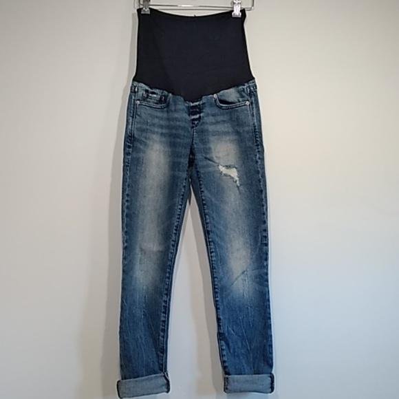 always skinny Denim - Always skinny distressed maternity jeans